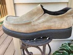 ALDO Tan Suede Casual Mens Loafers with Rubber Soles for Comfort Sz 12 EUR 46 | eBay