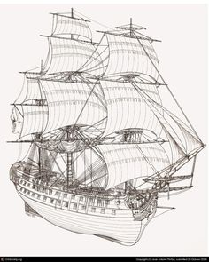 The All Inclusive Luxury Motor Yacht Charter Model Sailing Ships, Old Sailing Ships, Model Ships, Boat Drawing, Pirate Ship Drawing, Bateau Pirate, Model Ship Building, Ship Of The Line, Wooden Ship