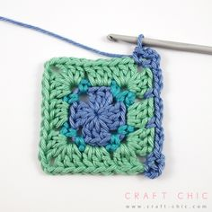 Craft Chic Tutorial: Block Stitch Square