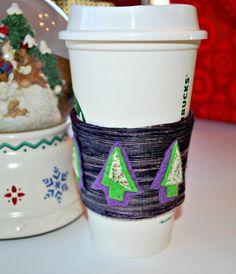 Coffee Cozy Christmas Tree Coffee Cozy by CinnamonStixSundries.Etsy.com