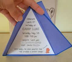 Campout birthday invitation party ideas pinterest birthdays another invitation idea for camping party filmwisefo Image collections