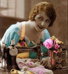 1920s tinted postcard