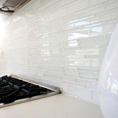 love this glass tile backsplash