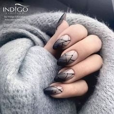 "6,313 Likes, 34 Comments - Indigo Nails (@indigonails) on Instagram: ""⚫⚪ Ombre z delikiatnym nudziakiem Milkshake Gel Polish by Marcelina Rawka Indigo Educator ⚫⚪…"""