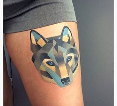15 Geometric Animal Tattoos. Cool concept of using geometric shapes