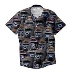 """""""What's better than a dress shirt with one beautiful gorilla on it? Button Shirts, Button Down Shirt, Dress Shirt, Men Casual, Mens Tops, Beautiful, Dresses, Fashion, Vestidos"""