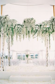 Photography : Trent Bailey Studio Read More on SMP: http://www.stylemepretty.com/2016/03/28/a-summer-island-wedding-with-a-floral-covered-chuppah/