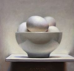 Egg Still Life, painting by artist Jos van Riswick
