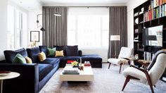 """Designers agree: A great living room starts with a great sofa. """"So often I come into a house and the owners have good taste, but they already have a sofa that they want to work with,"""" explains..."""