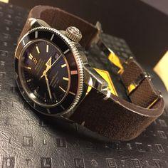 Ma Breitling Superocean avec un bracelet réalisé par l'ABP