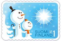 Postin verkkokauppa 1. lk:n postimerkit Lumiukot - 1. luokan postimerkki