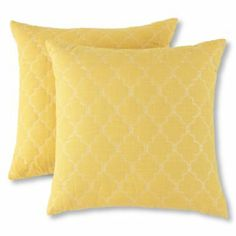 Pillows in Yellow