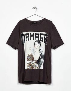 Nyomott mintás póló. Fedezd fel ezt és a hetente új számos terméket a  Bershkánál. 81a66519aa