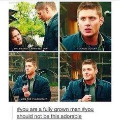 Jensen Ackles supernatural so adorable Winchester Boys, Winchester Brothers, Supernatural Destiel, Castiel, Funniest Supernatural Episodes, Jensen Ackles, Hilarious, Funny, Superwholock