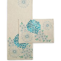 Homewear Spring Sketch Table Linens Collection Teal Placemat ($18) ❤ liked on Polyvore featuring home, kitchen & dining, table linens, teal, teal table linens, homewear, spring placemats, spring table linens and teal placemats