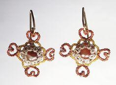 heart earrings to match my cross necklace....Tatsmithing