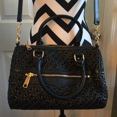 Black satchel. Rebecca Minkoff Black woven leather satchel. Dust bag included. Rebecca Minkoff Bags Satchels