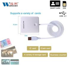 USB Contact Smart Chip Card IC Cards Reader Writer With SIM Slot PUS