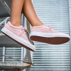 #VANS #OldSkool Suede When pastel pink shoe dreams come true / :)