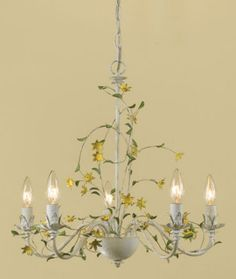 Pre Owned Italian Tole Flowers Chandelier 1 045 Liked On Polyvore Featuring Home Lighting Ceiling Lights Blossom Lig