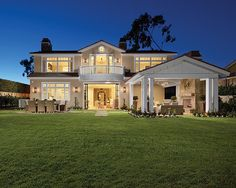 Backyard   Coastal California Home with neutral tones   Designed by Brandon Architects   Built by Patterson Custom Homes