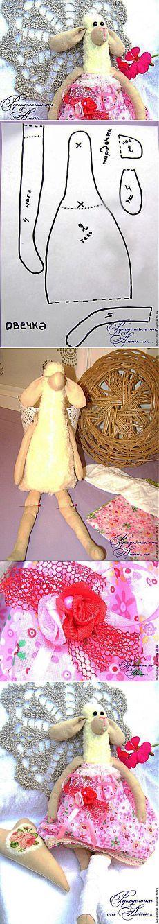 Шьем овечку в стиле Тильда — Маюша - Ярмарка Мастеров - ручная работа, handmade