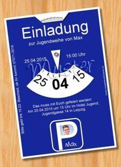einladung einladungskarten jugendweihe muster 34 - bild vergrößern, Einladungskarten