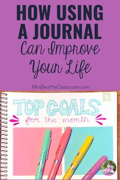 Keeping a daily journal is an excellent way to focus on gratitude, get organized, and set goals. Take a look at this post for great product choices, inspiring journaling ideas, and grab a FREE printable month-long journaling challenge! Cool Writing, Creative Writing, Weekly Planner, Life Planner, Planner Layout, Daily Journal, Positive And Negative, Personal Goals, Daily Prayer