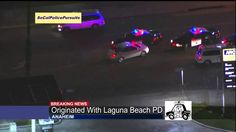 California High Speed Police Chase Stolen Vehicle (KCAL)