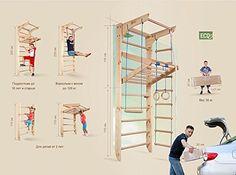 Kinder kletterwand piccolo 8 240 sprossenwand turnwand for Turnwand kinderzimmer