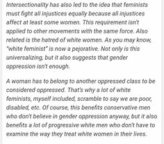 When being a woman is not enough to be oppressed when it really is