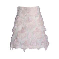 Giamba Jacquard Fringed Skirt