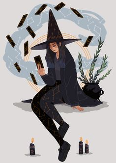 Here is my Witchsona for the witchsona week ! Also you are now more than 3,000 to follow me !! Thanks a lot ! ✧*。٩(ˊᗜˋ*)و✧*。