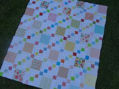 Love Laugh Quilt: Stepping stones, a baby quilt