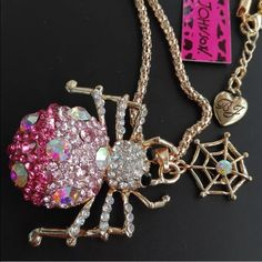 Betsey Johnson necklace Chunky spider and web necklace Betsey Johnson Jewelry Necklaces