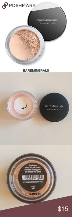 BareMinerals mineral veil finishing powder NWT! Mineral veil, shade is original. SPF 25. Translucent soft finish, minimizing lines, absorbing oils, softening your complexion, gives you a flawless finish that's too good to miss! Utterly weightless. bareMinerals Makeup Foundation
