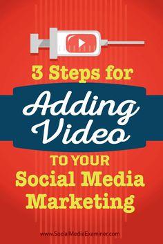 3 Steps for Adding Video to Your Social Media Marketing - http://www.socialmediaexaminer.com/?p=98256 via @SMExaminer