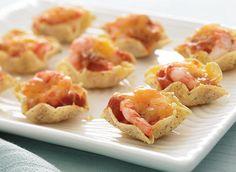 Bouchées fondantes aux crevettes et à la salsa Recette