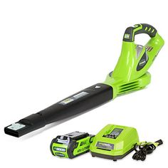 GreenWorks 24252 GMAX 40V 150 MPH Variable Speed Cordless Blower 2Ah Battery and Charger Included >>> More info could be found at the image url.