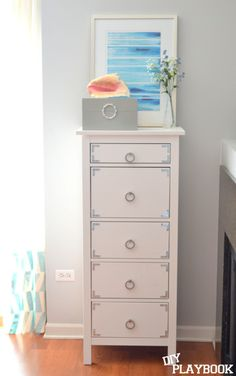Earlier this week, you guys got a glance at the new tall dresser that's currently hanging out in our office. I showed you how I jazzed up the drawer sides with marbled paper, and today I want to show you how I jazzed up the outside of this ho-hum dresser. I purchased this dresser from… Read More »