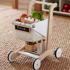 Can someone please buy this adorable wooden shopping cart for Evelyn Rose?!