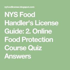 food protection course exam questions