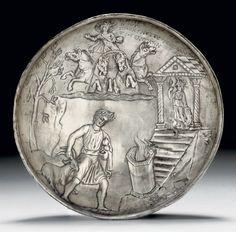 A ROMAN SILVER BOWL    CIRCA 3RD CENTURY A.D.