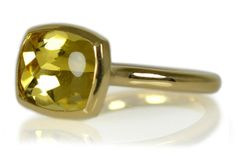 K18ヘリオドールリング  Gold Yellow Beryl Ring