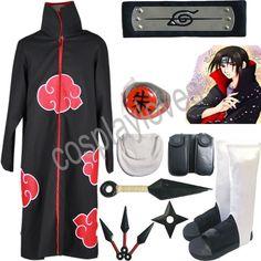 Naruto Akatsuki cloak Uchiha Itachi Cosplay Costume set in Collectibles, Animation Art & Characters, Japanese, Anime | eBay