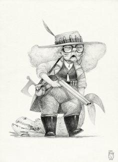 Просмотреть иллюстрацию Sketchtober | 005 из сообщества русскоязычных художников автора Blad Moran в стилях: 2D, Анимационный, Концептуальный, нарисованная техниками: Карандаш.