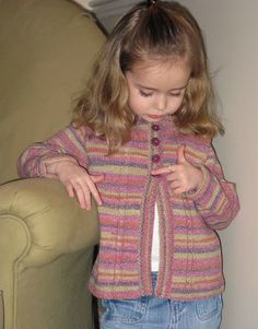 Free Knitting Pattern - Girl's Clothes: Summer Sox Toddler Cardigan
