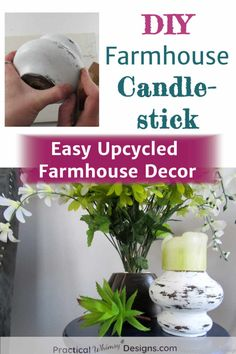 This is a great tutorial if you love easy upcycle projects. Turn your old couch feet into diy farmhouse candlesticks for a simple farmhouse decor project. #farmhousedecor #upcycledfurniture #diydecor Kids Painting Projects, Diy Art Projects, Furniture Projects, Diy Painting, Couch Feet, Guest Room Decor, Bedroom Decor, Diy Home Accessories, Diy Home Repair