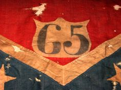 Detail of 65th GA Battle Flag