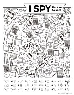 Free Printable I Spy Back to School Activity. Classroom themed activity or game idea for the first day of school for students. Free Printable I Spy Back to School Activity. Classroom themed activity or game idea for the first day of school for students. Back To School Activities, Classroom Activities, Esl First Day Activities, Back To School Worksheets, Printable Activities For Kids, Classroom Themes, I Spy Games, Back To School Night, Back To School Art